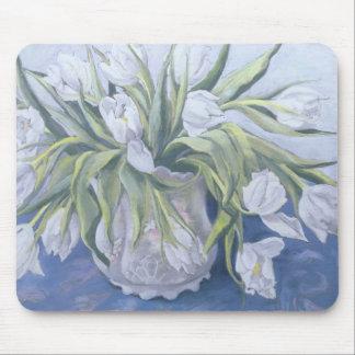 Tapis De Souris Tulipes blanches