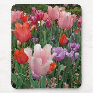 Tapis De Souris Tulipes et pensées 2