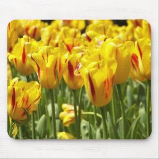 Tapis De Souris Tulipes jaunes florales