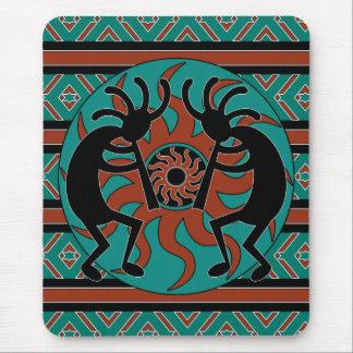 Tapis De Souris Turquoise Sun tribal Kokopelli de sud-ouest
