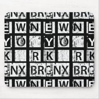 Tapis De Souris Typographie grunge de Bronx New York |