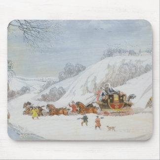 Tapis De Souris Un courrier dans la neige profonde
