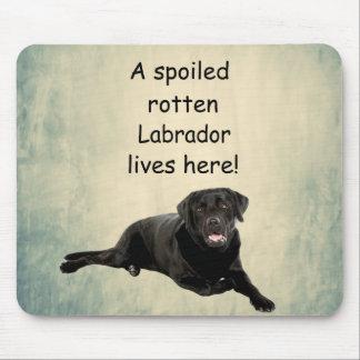 Tapis De Souris Un Labrador putréfié corrompu vit ici