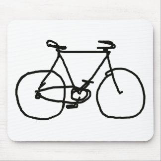 Tapis De Souris une bicyclette noire stylisée