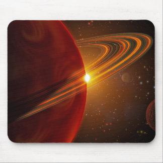 Tapis De Souris Une mise sur orbite géante de planète soleil-comme