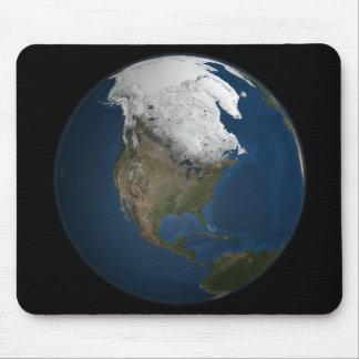 Tapis De Souris Une vue globale au-dessus de l'Amérique du Nord
