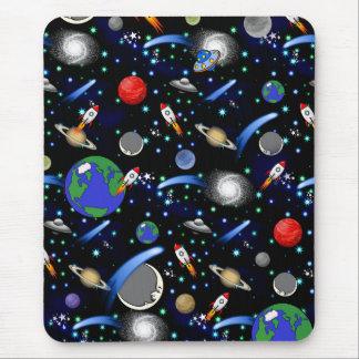 Tapis De Souris Univers de galaxie - planètes, étoiles, comètes,