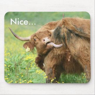 Tapis De Souris Vache drôle d'Aberdeen Angus Mousepad/tapis de