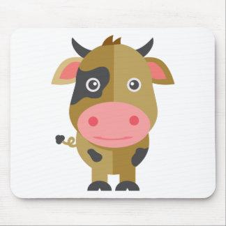 Tapis De Souris Vache mignonne à bande dessinée