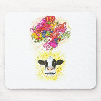 Tapis De Souris Vache psychédélique