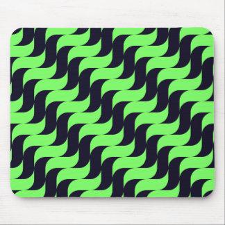 Tapis De Souris Vague de cascade noire et verte
