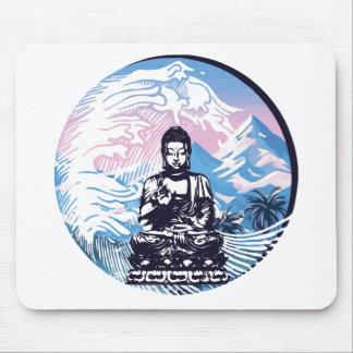 Tapis De Souris Vague de montagne tropicale de Bouddha