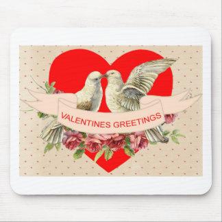 Tapis De Souris Valentine de colombe