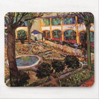 Tapis De Souris Van Gogh la cour de l'hôpital chez Arles