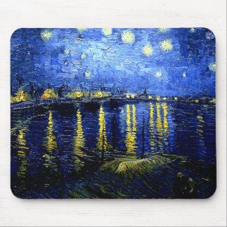 Tapis De Souris Van Gogh - nuit étoilée au-dessus du Rhône
