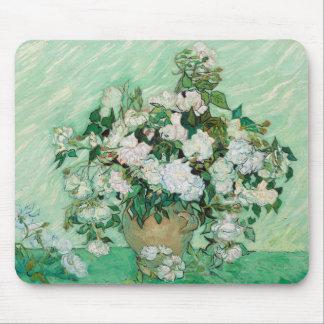 Tapis De Souris Vase à Van Gogh avec la peinture florale de roses