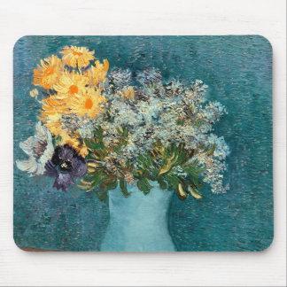 Tapis De Souris Vase à Vincent van Gogh | de fleurs, 1887