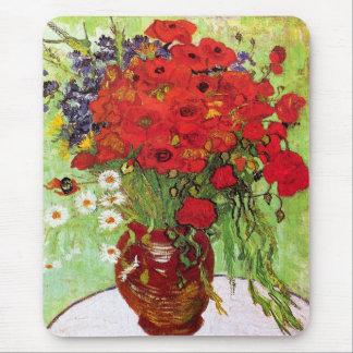 Tapis De Souris Vase avec des marguerites et des pavots, Van Gogh