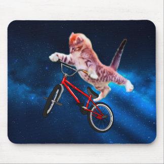 Tapis De Souris Vélo de chat - style libre de chat - chat drôle