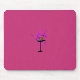 Tapis De Souris Verre Mousepad de Martini de roses indien