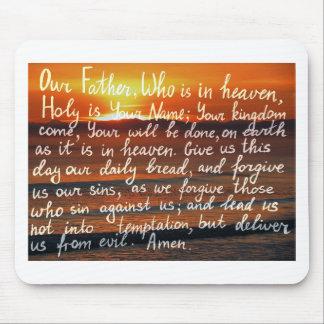 Tapis De Souris Vers de bible de prière notre écriture de père