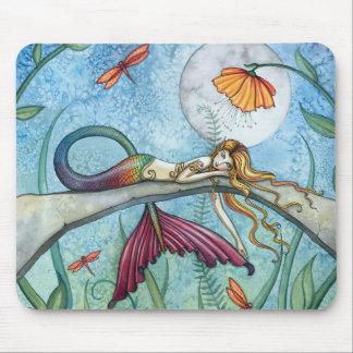 Tapis De Souris Vers le bas par l'art de sirène d'étang