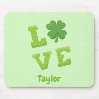 Tapis De Souris Vert chanceux de Jour de la Saint Patrick d'amour