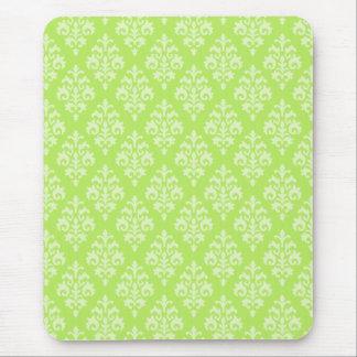 Tapis De Souris Vert de chaux de damassé Mousepad