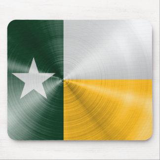 Tapis De Souris Vert et radial de drapeau du Texas d'or balayé