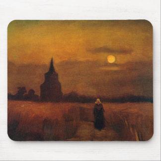 Tapis De Souris Vieille tour de Van Gogh dans les domaines,