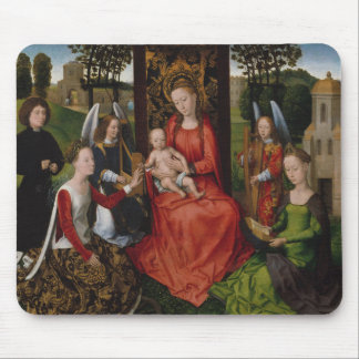 Tapis De Souris Vierge et enfant avec des saints Catherine de