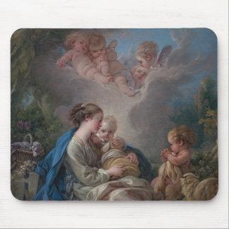 Tapis De Souris Vierge et enfant avec le St John le baptiste