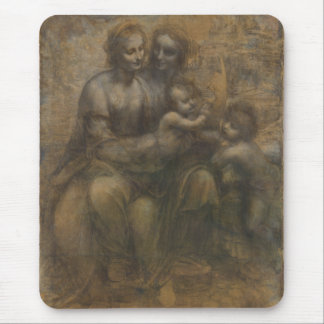 Tapis De Souris Vierge et enfant avec St Anne par Leonardo da