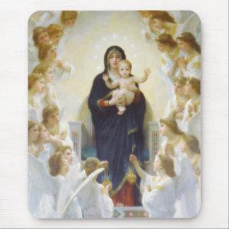 Tapis De Souris Vierge Marie et Jésus avec des anges