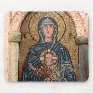 Tapis De Souris Vierge Marie et mosaïque de Jésus