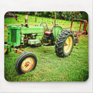 Tapis De Souris Vieux mousepad vert de tracteur