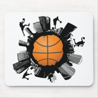 Tapis De Souris Ville de basket-ball