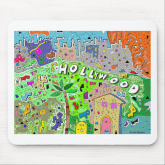 Tapis De Souris Ville de Hollywood Hills