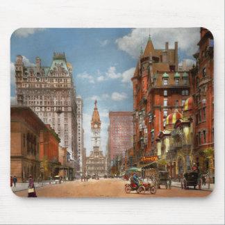 Tapis De Souris Ville - PA Philadelphie - large rue 1905