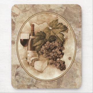 Tapis De Souris Vin et fromage