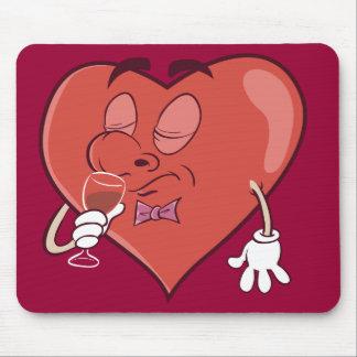 Tapis De Souris Vin potable de coeur