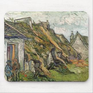 Tapis De Souris Vincent van Gogh | a couvert des cottages de