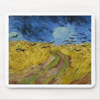 Tapis De Souris Vincent van Gogh - champ de blé avec la peinture