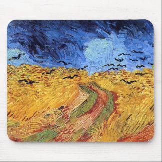 Tapis De Souris Vincent van Gogh - champ de blé avec les