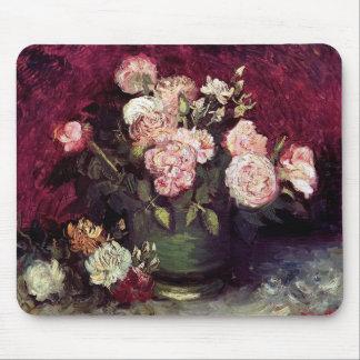 Tapis De Souris Vincent van Gogh - cuvette avec des pivoines et