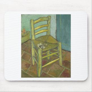 Tapis De Souris Vincent van Gogh - la chaise de Van Gogh avec le
