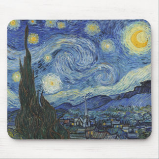 Tapis De Souris Vincent van Gogh | la nuit étoilée, juin 1889