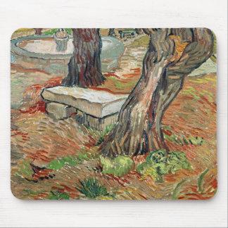 Tapis De Souris Vincent van Gogh | le banc au Saint-Remy