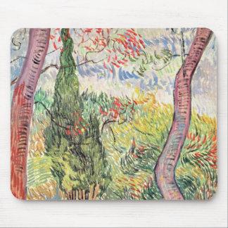 Tapis De Souris Vincent van Gogh | le jardin de l'hôpital de St