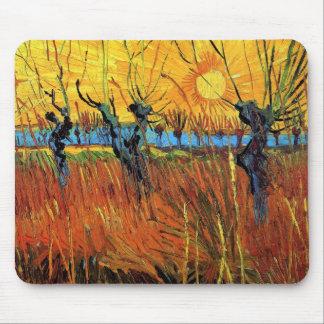 Tapis De Souris Vincent van Gogh - saules aux beaux-arts de